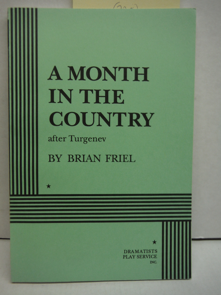 A Month in the Country, After Turgenev (Friel) - Acting Edition