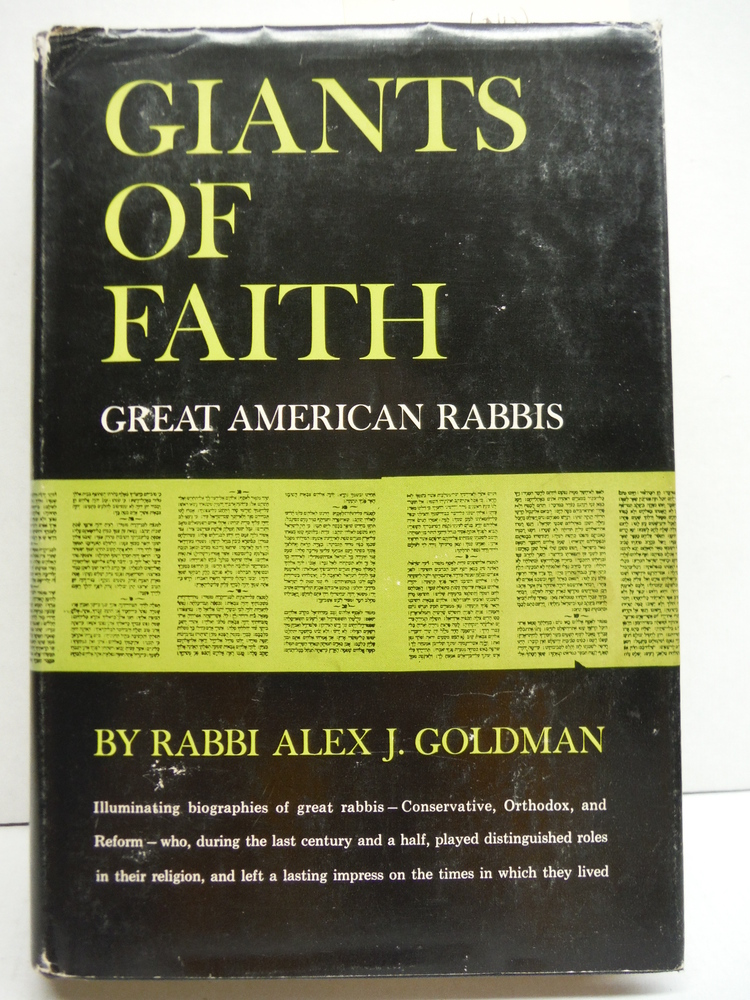 Giants of faith;: Great American rabbis,