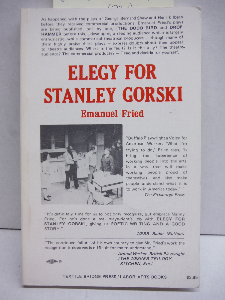 Elegy for Stanley Gorski