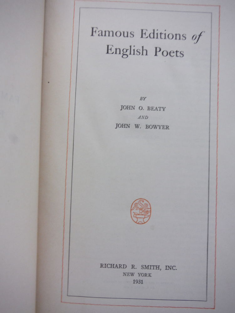 Image 1 of Famous Editions of English Poets