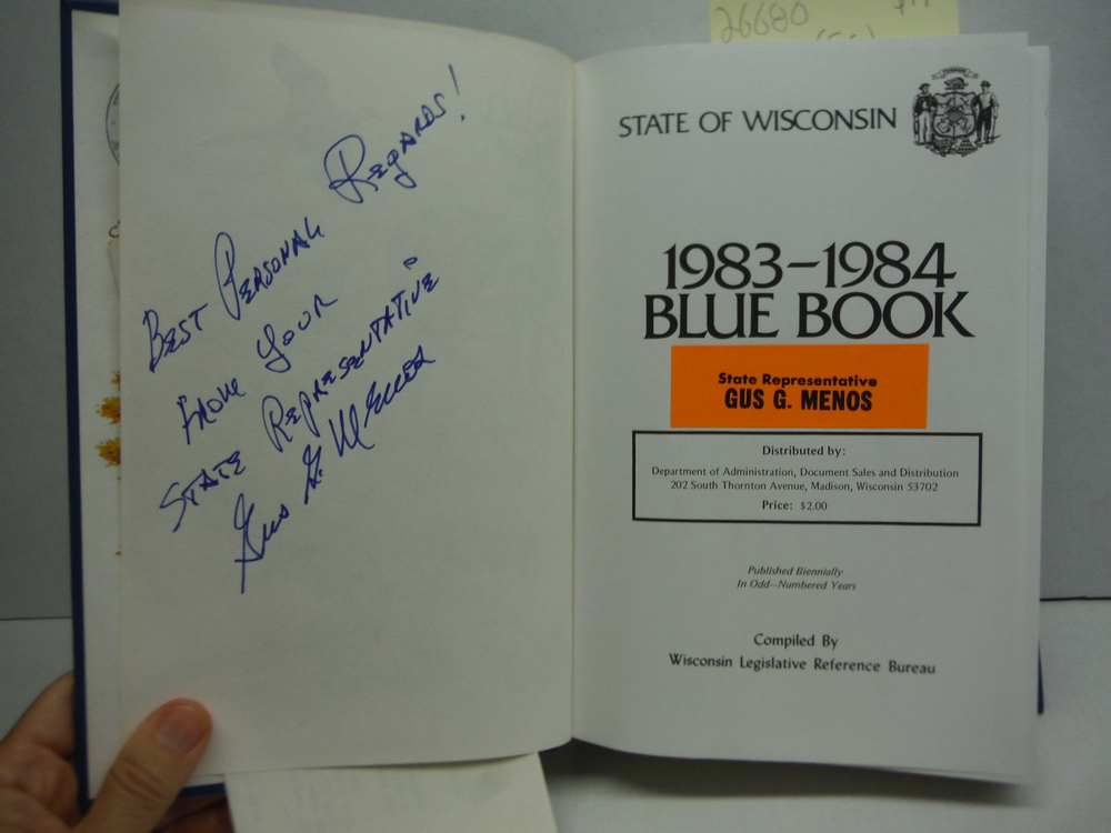 Image 1 of State of Wisconsin Blue Book 1983-1984