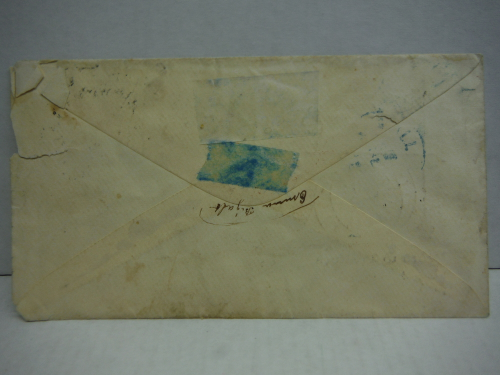 Image 1 of Civil War Patriotic Envelope with Stamp - Death to Traitors - March 1861