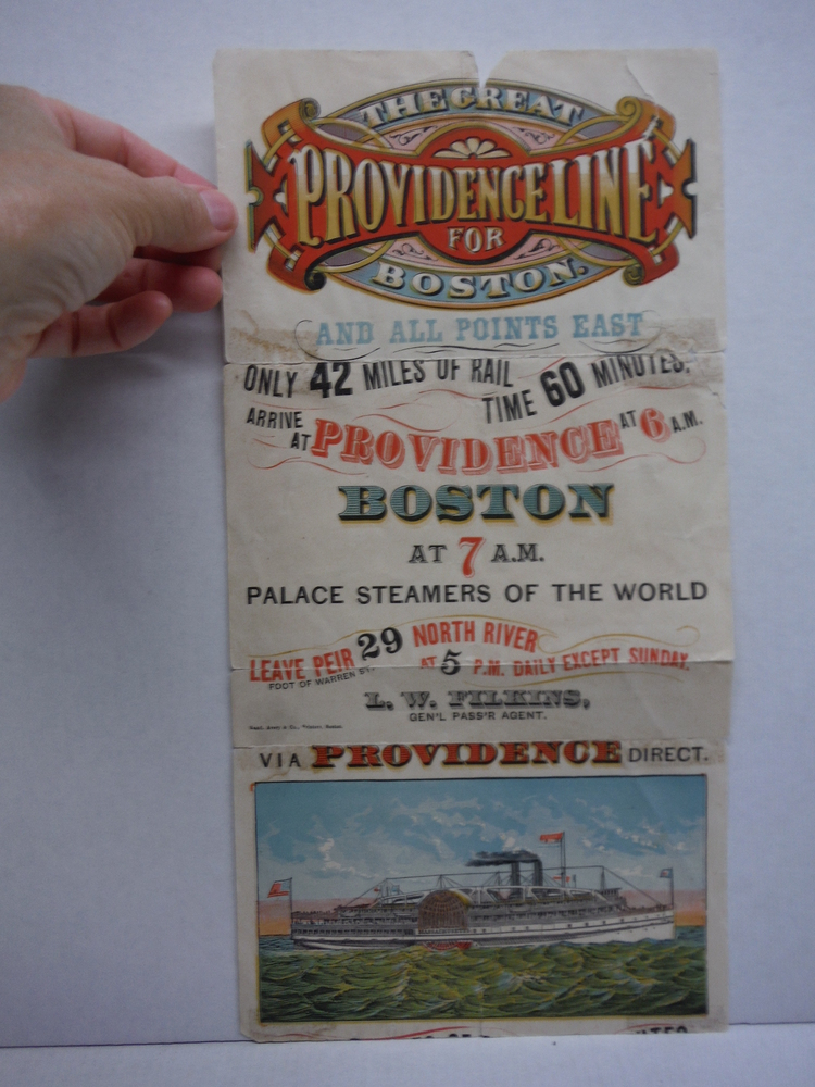 The Great Providence Line for Boston and all Points East - Advertising poster