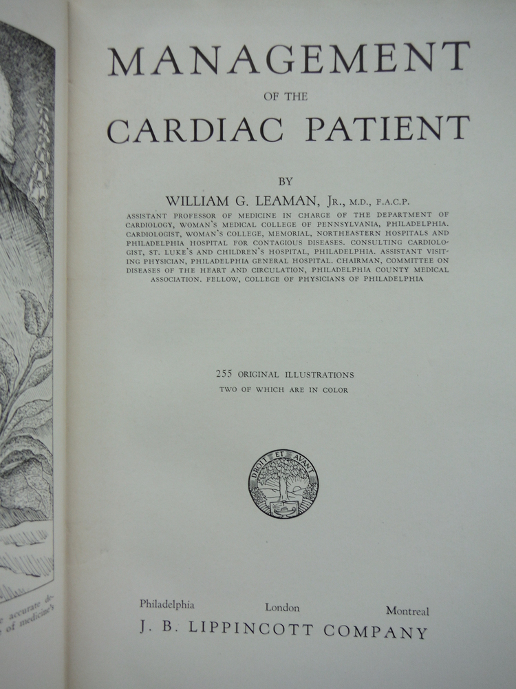 Image 1 of Management of the Cardiac Patient.