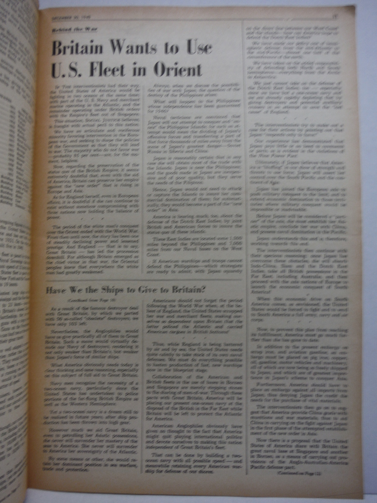 Image 1 of Social Justice National Weekly - 1940 (54 issues )