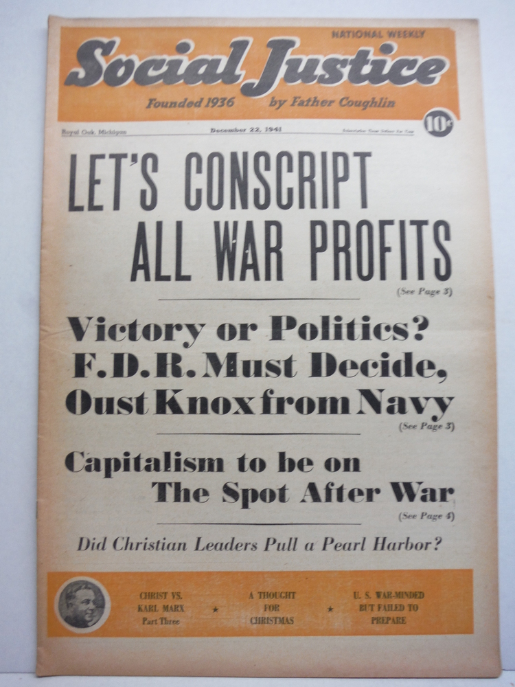 Social Justice National Weekly - 1941 (52 issues )
