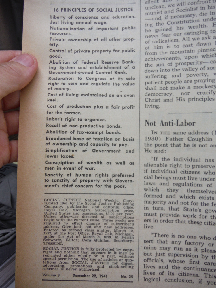Image 1 of Social Justice National Weekly - 1941 (52 issues )