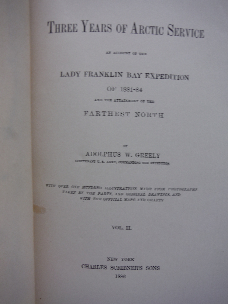 Image 1 of Three Years of Arctic Service; An Account of the Lady Franklin Bay Expedition of