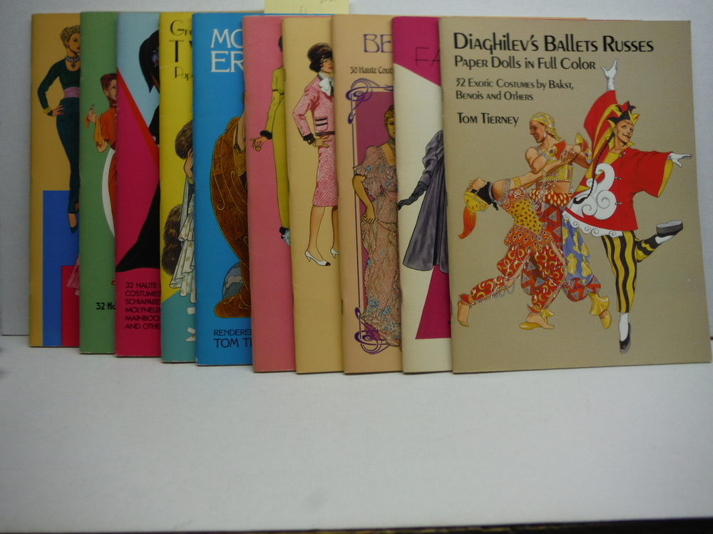 Set of Eleven Paper Doll Books by Tom Tierney (1982- 1988)