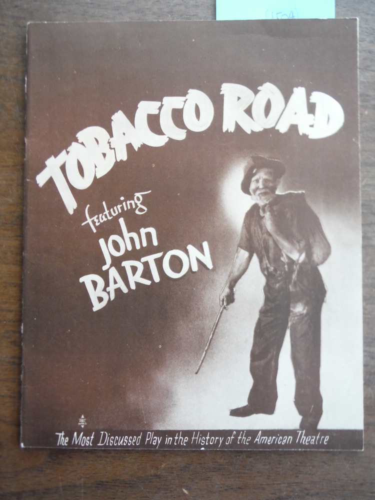 Image 1 of Autograph of John Barton from Souvenir Program for Tobacco Road at the Davidson
