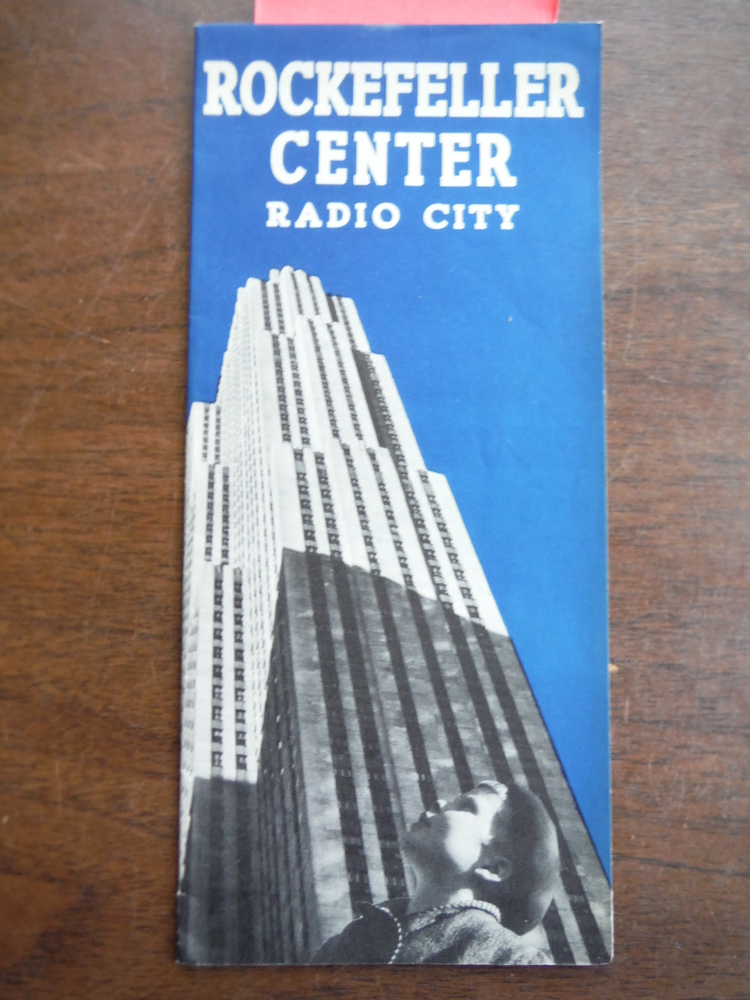 Rockefeller Center Radio City  Folded Tourist Brochure - 1939
