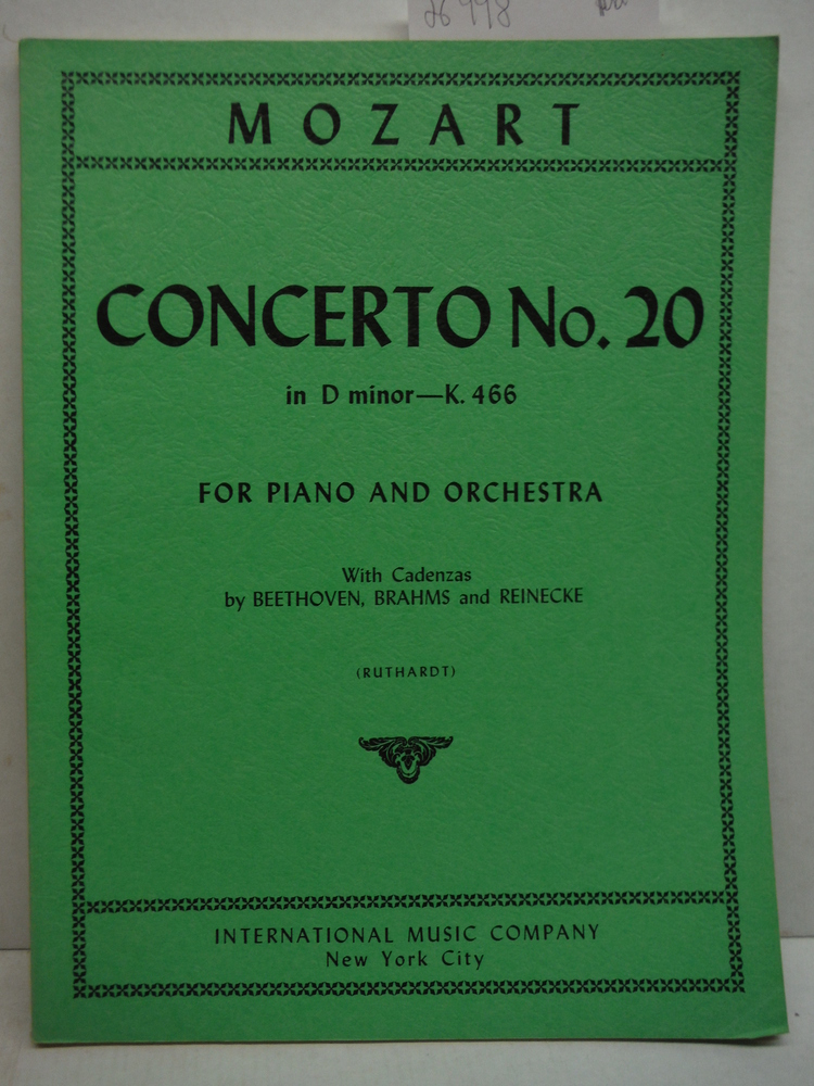 Mozart: Concerto No. 20 in D minor - K. 466 for Piano and Orchestra with Cadenza