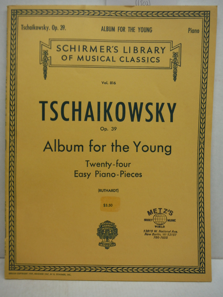 Image 0 of Tschaikowsky: Album for the Young Op. 39 - Twenty-Four Easy Piano Pieces (Schirm