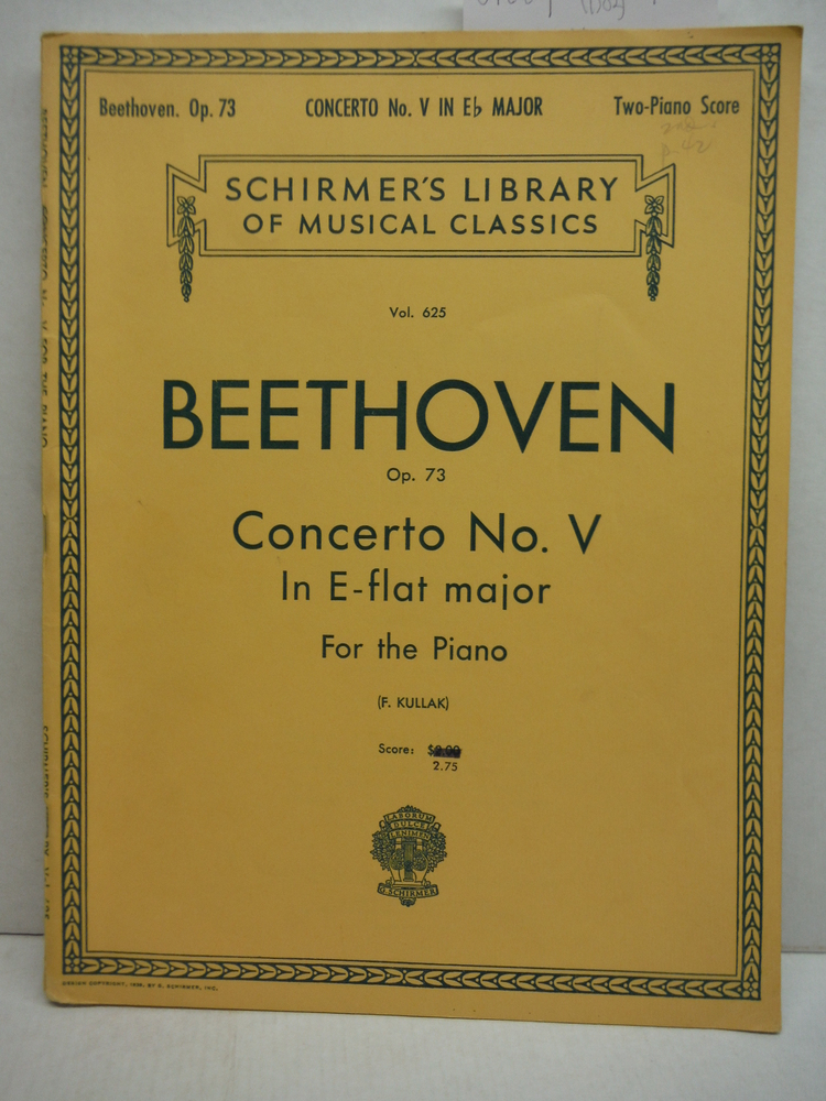 Image 0 of BEETHOVEN: OP 73 CONCERTO NO. V IN E-FLAT MAJOR FOR THE PIANO PROVIDED WITH FING