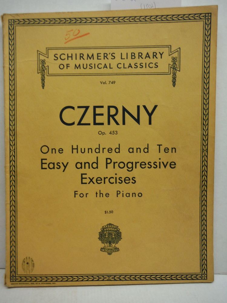 Image 0 of Czerny Vol. 749 Op. 453 One Hundred and Ten Easy and Progressive Excercises for