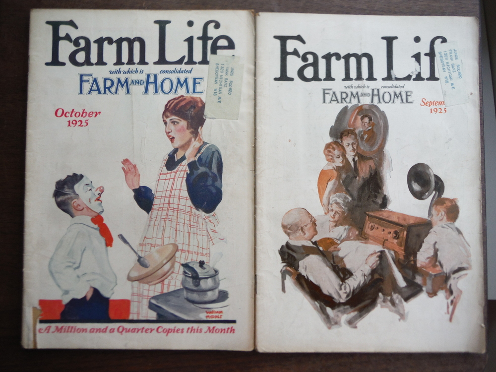 Image 2 of Farm Life Magazine  1925 (Seven Issues June to December)