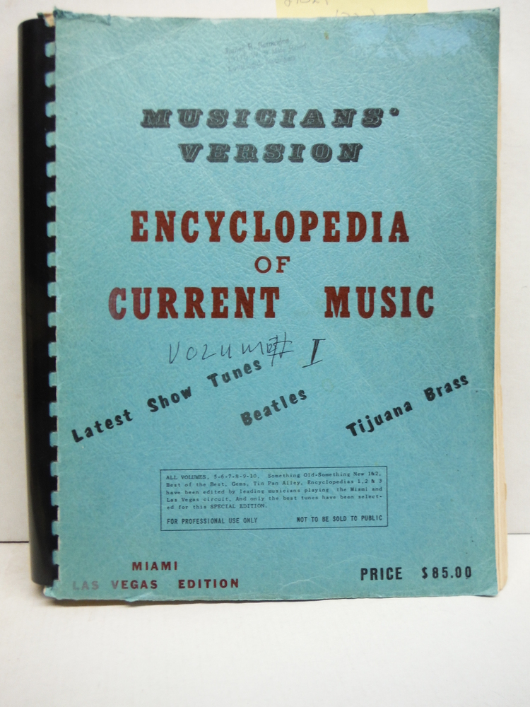 Image 0 of Encyclopedia of Current Music, Musicians' Version