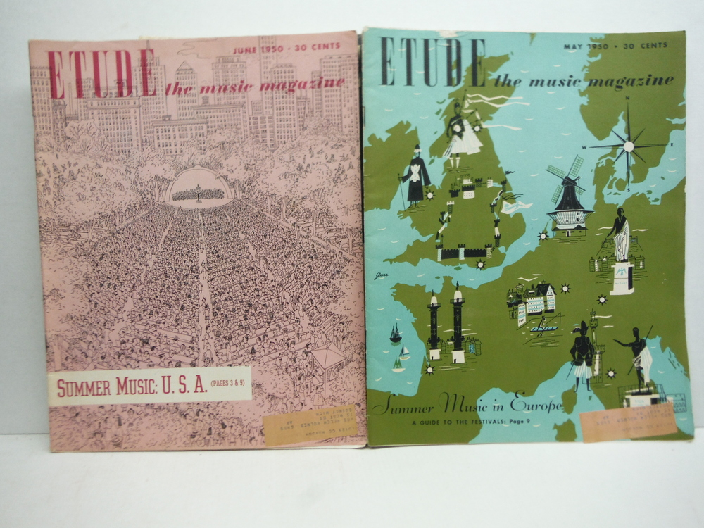 Image 1 of Etude the Music Magazine - 1950 (6 issues)