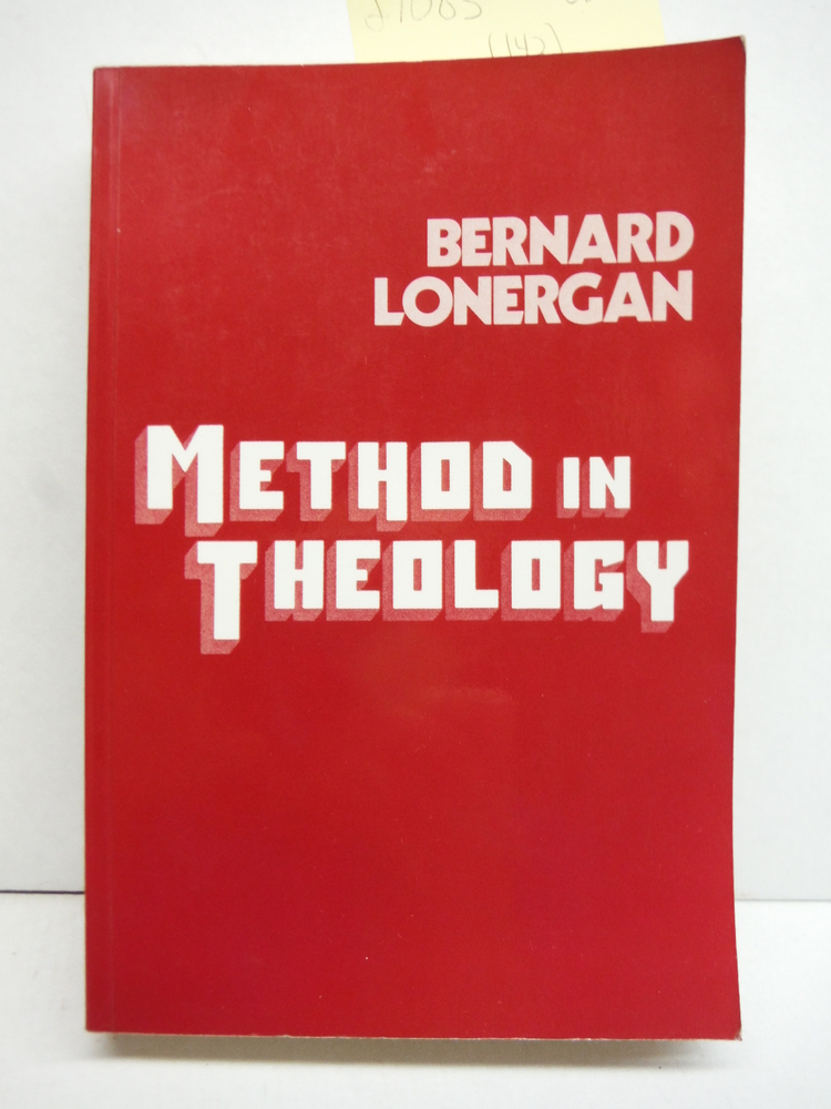 Image 0 of Method in Theology (Lonergan Studies)