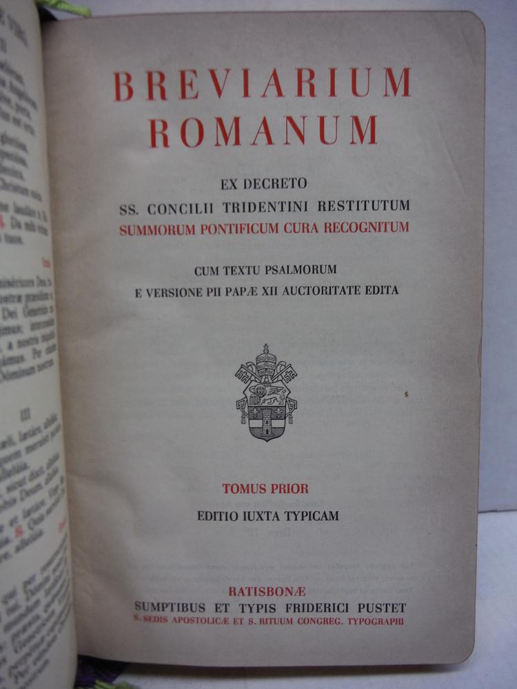 Image 2 of BREVIARIUM ROMANUM (2 VOL LATIN BREVIARY) LEATHER & SLIP CASES