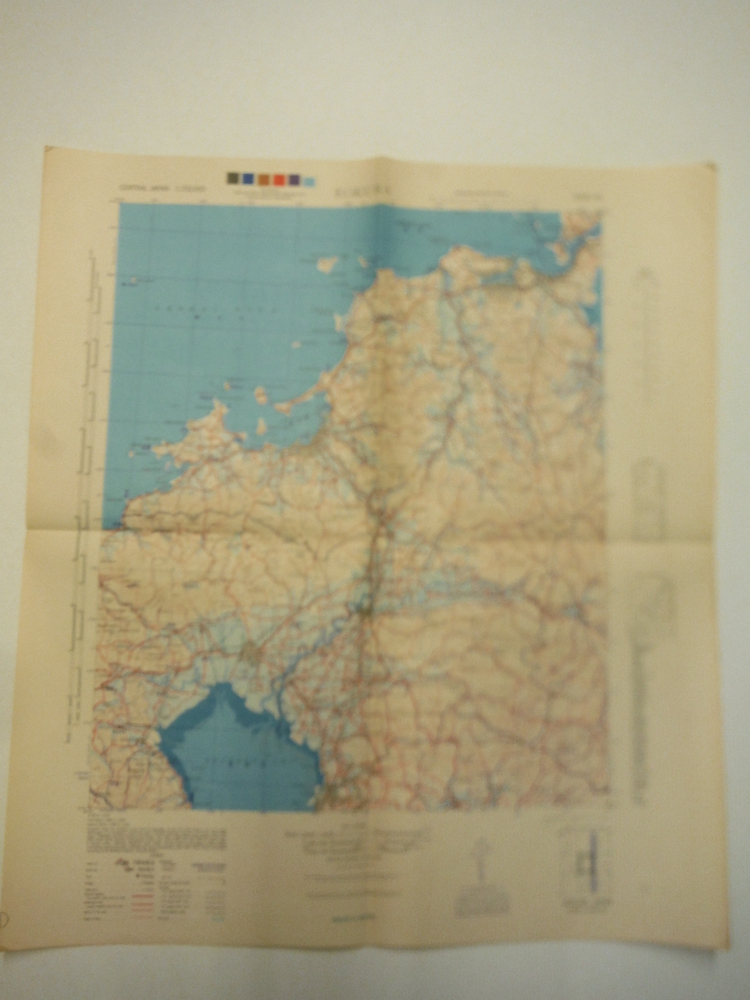 Image 1 of Army Map Service WW II Contour Map of  Kokura Central Japan (1945)