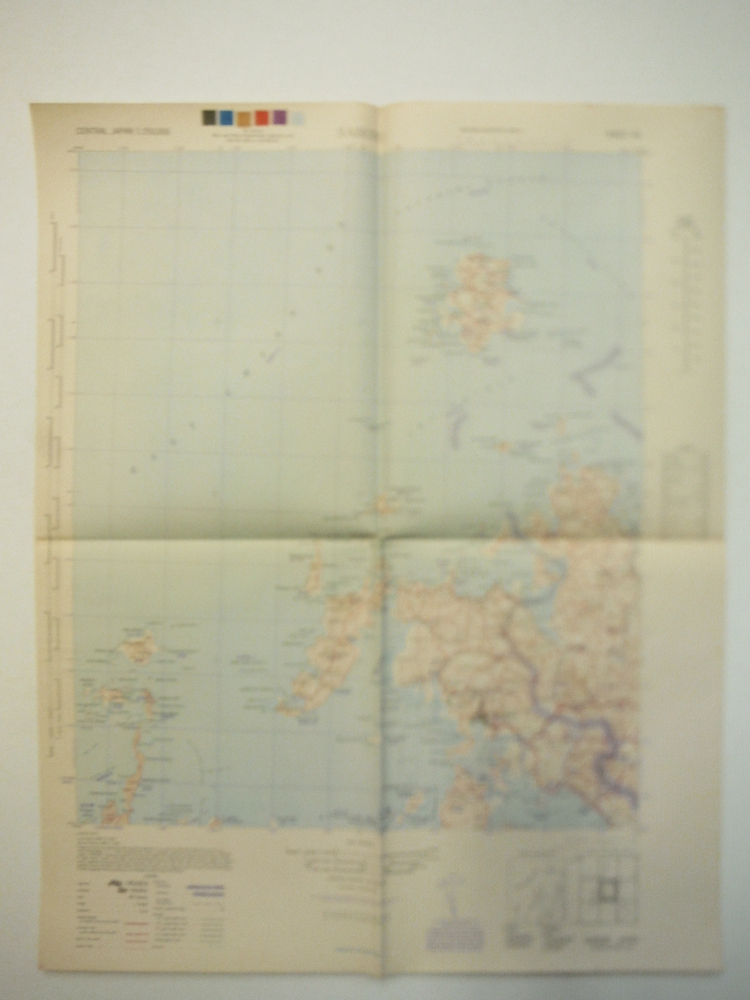 Army Map Service Contour Map of  Sasebo , Central Japan (1944)