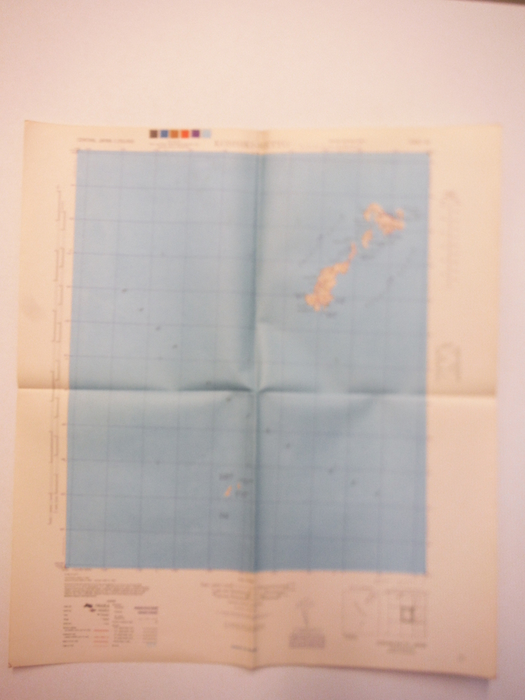 Army Map Service Contour Map of  Koshiki-Retto, Central Japan (1944)