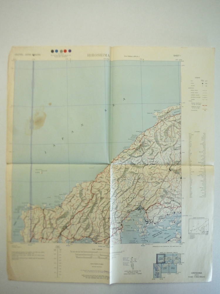 Army Map Service Map of  HIROSHISMA, Central Japan (1945)