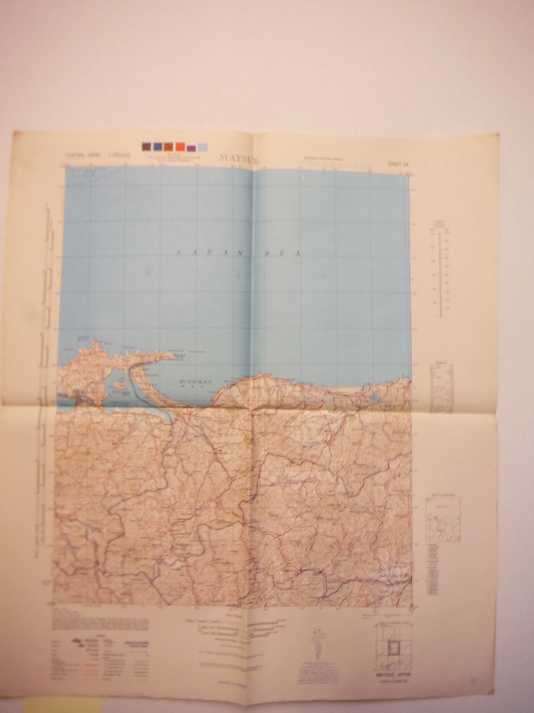 Army Map Service Map of  MATSUE, Central Japan (1945)