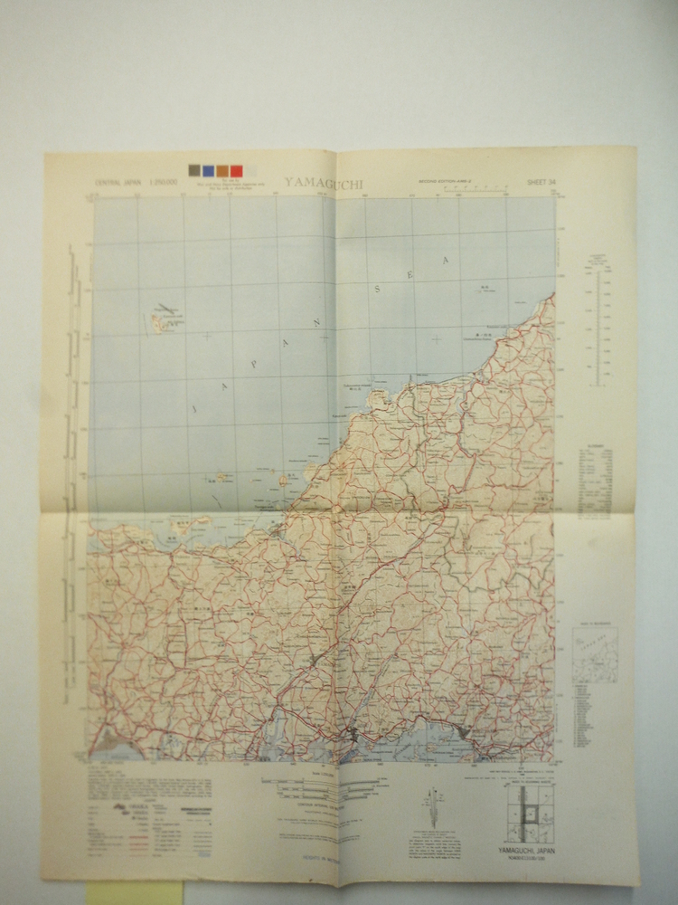 Army Map Service Map of  YAMAGUCHI, Central Japan (1945)