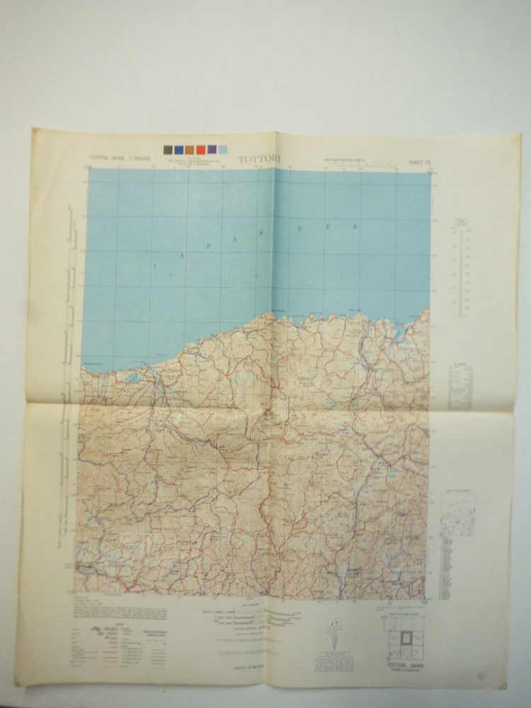 Army Map Service Map of  TOTTORI, Central Japan (1945)