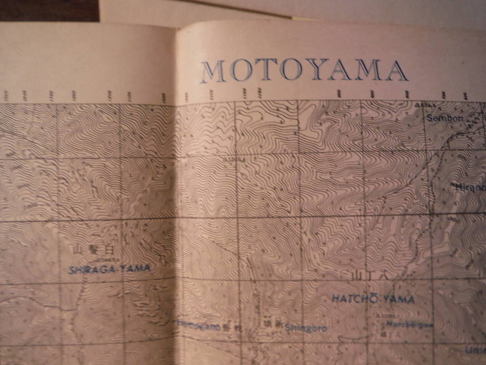 Army Map Service Map of  MOTOYAMA, Southern Honshu,  Japan (1944)