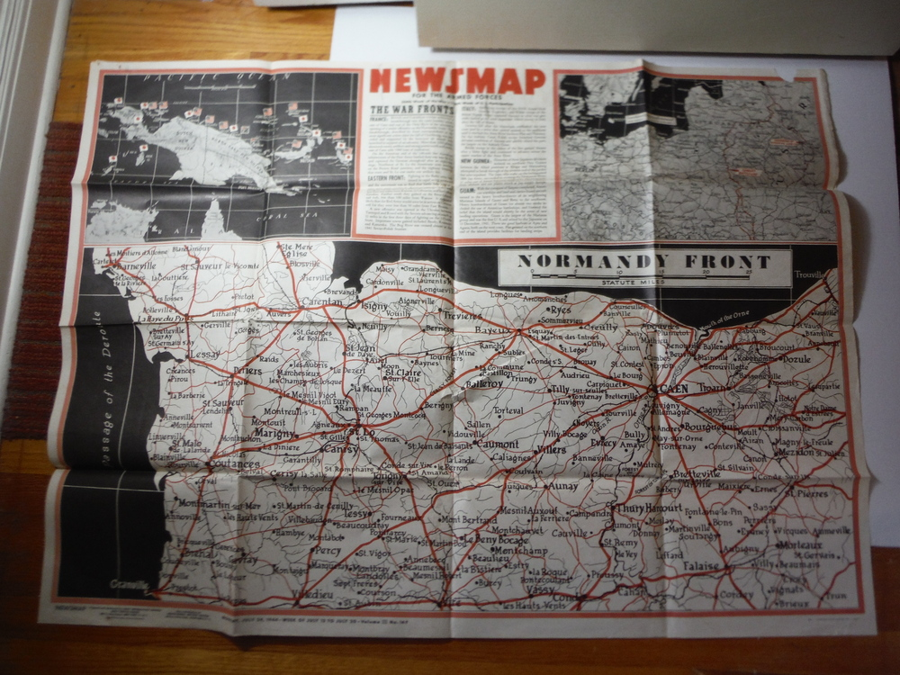 Image 0 of WW II Newsmap NORMANDY FRONT Vol. III  No. 14F (July 24, 1944)