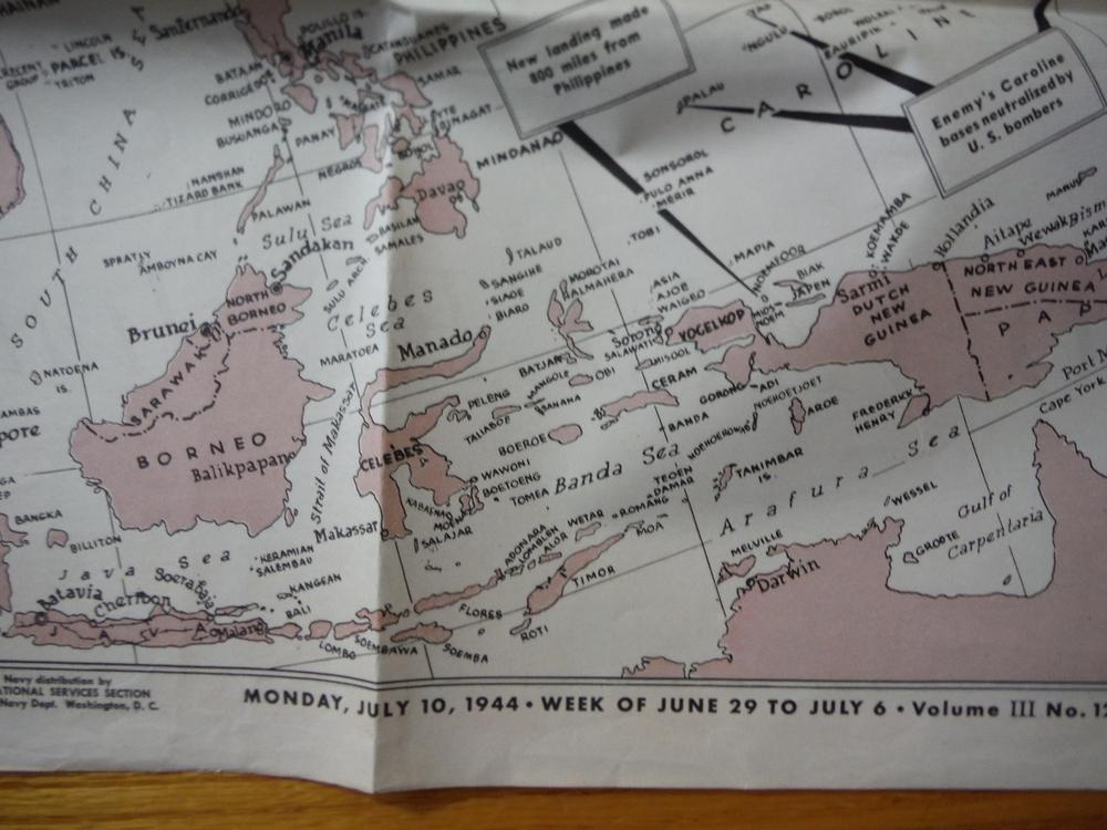 Image 1 of WW II Newsmap Vol.III  No. 12F (July 10, 1944)