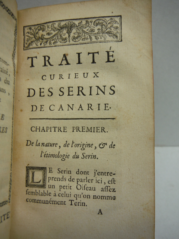 Image 3 of Nouveau Traite des Serins de Canarie, contenant la maniere de les elever & les a