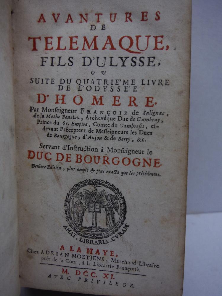 Image 1 of Avantures de Telemaque, fils d'Ulysse ou suite du quatrieme livre de l'Odyssee d