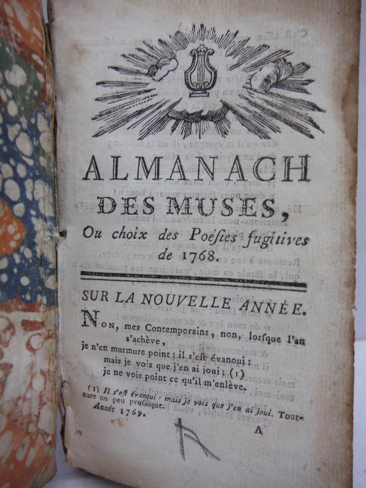 Image 1 of Almanach des Muses, Ou Choix des Poesies Fugitives de 1768