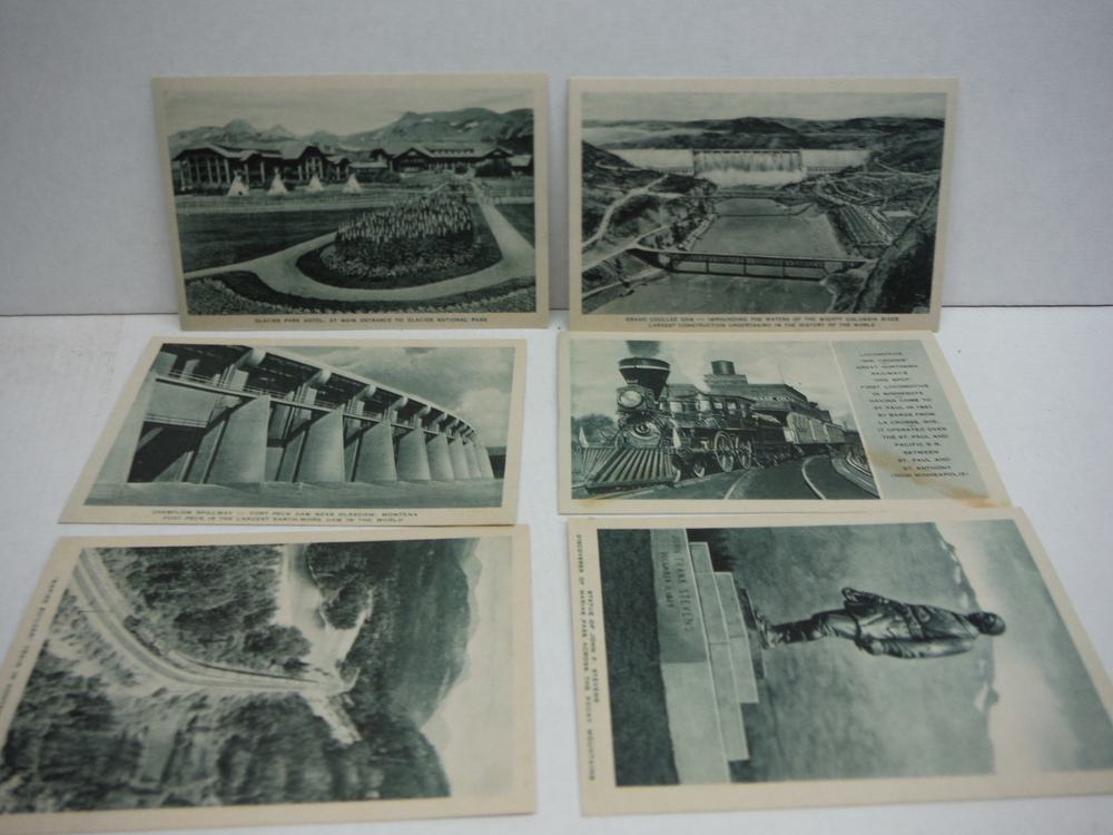 Image 2 of Ten Post Cards Views of Scenic and Historical Interest along the Great Northern