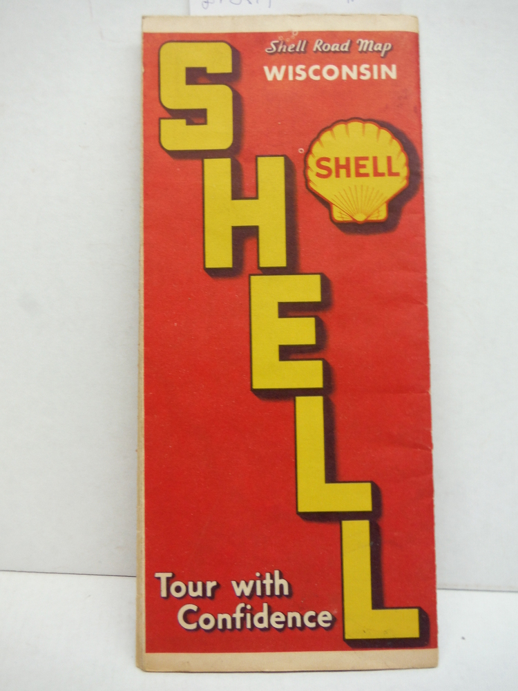 Shell Road Map Wisconsin - 1938