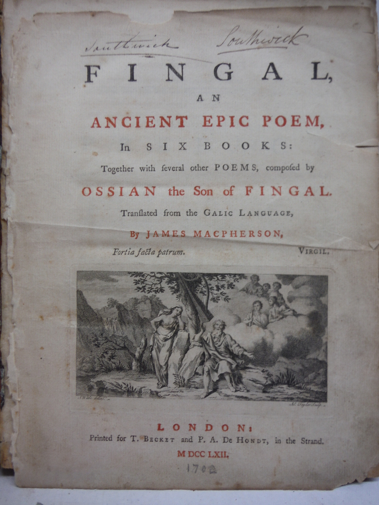 Image 2 of Fingal: an ancient epic poem, in six books: together with several other poems, c