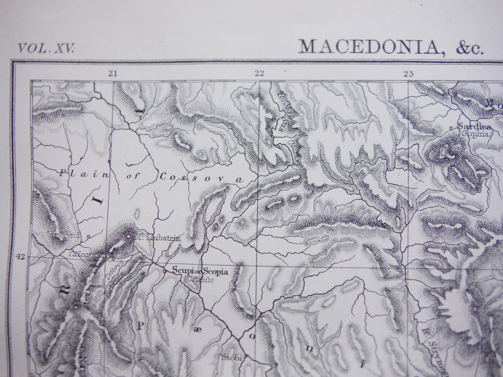 Image 1 of Antique Map of Macedonia, Madeira and Maltese Islands. from Encyclopaedia Britan