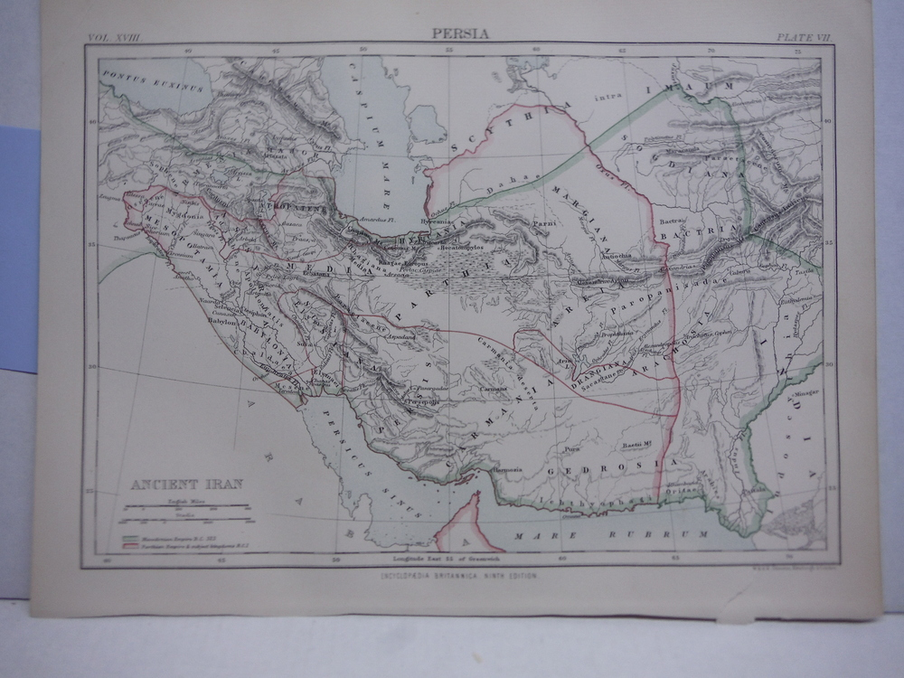 Antique Map of Persia from Encyclopaedia Britannica,  Ninth Edition Vol. XVIII P