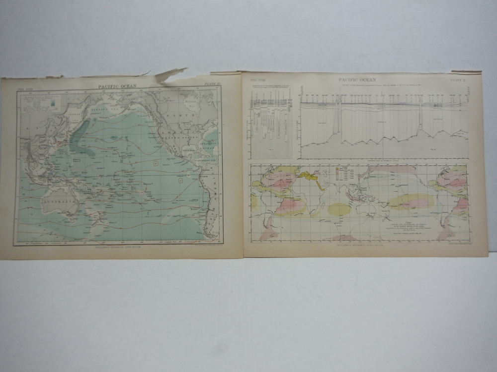 Antique Maps of Pacific from Encyclopaedia Britannica,  Ninth Edition Vol. XVIII
