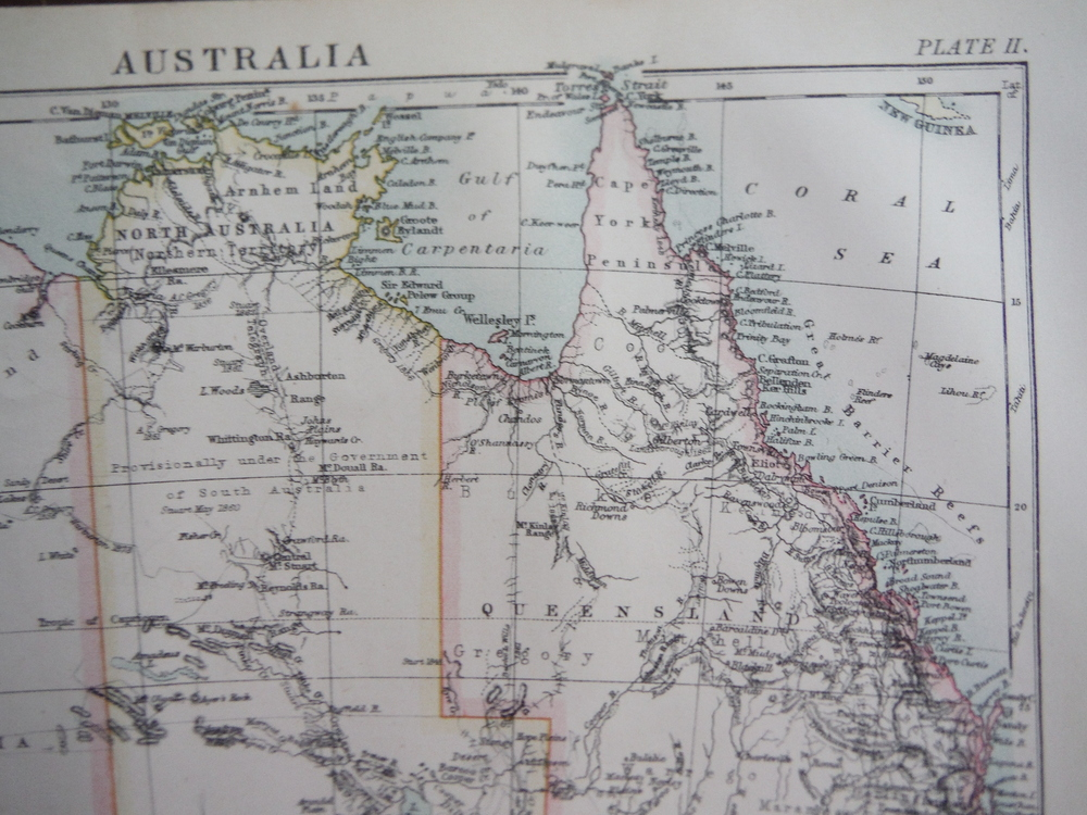 Image 1 of Antique Map of Australia from Encyclopaedia Britannica,  Ninth Edition Vol. III
