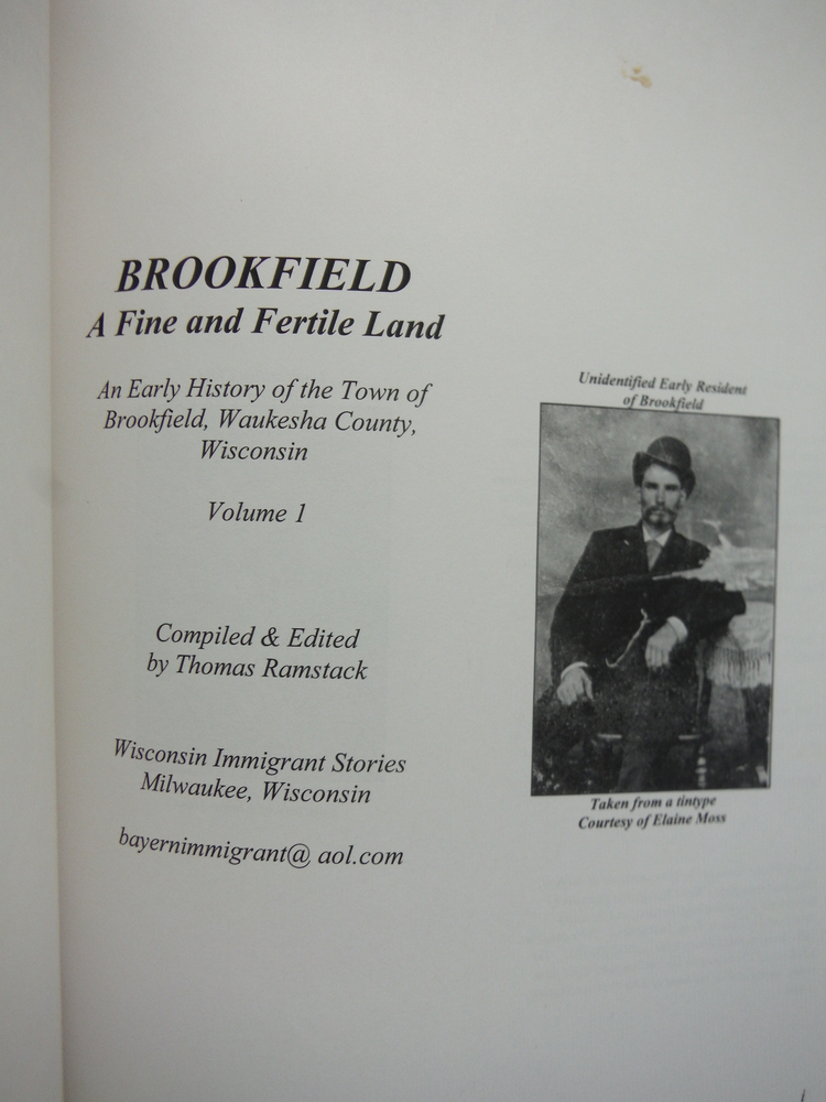 Image 1 of Brookfield: A Fine and Fertile Land: An Early History of the Town of Brookfield,
