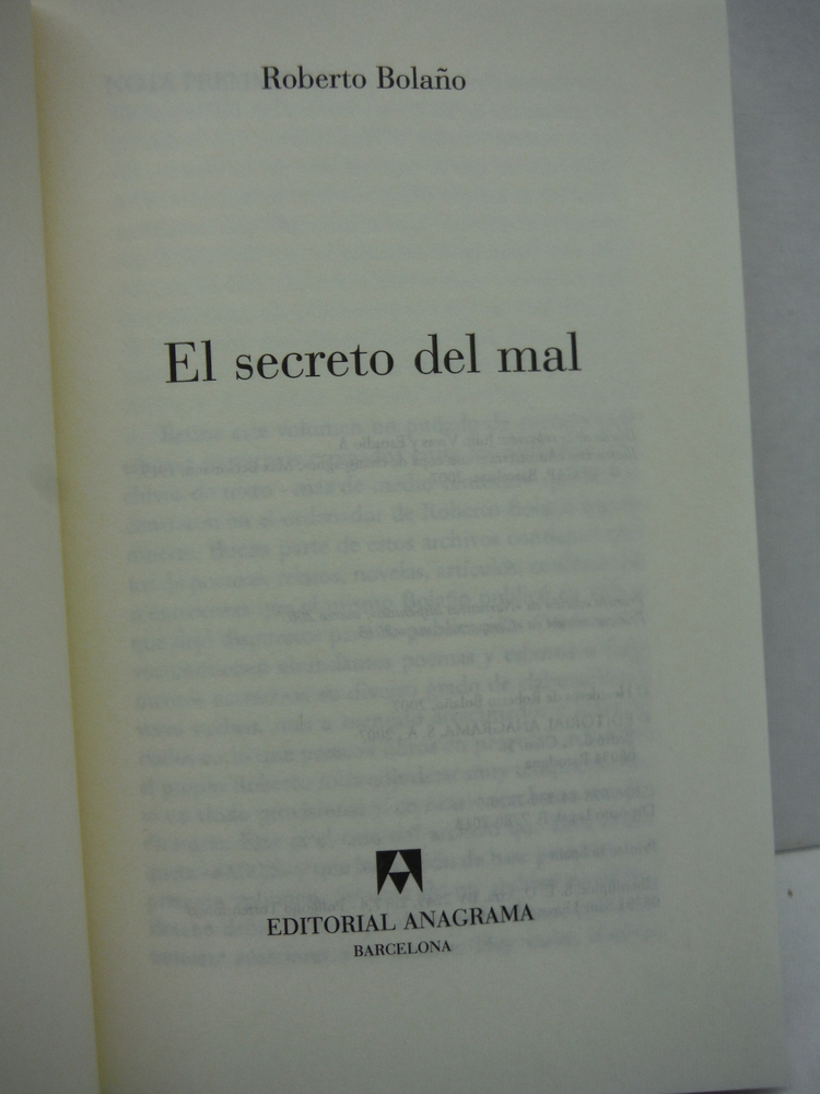 Image 1 of El secreto del mal (Spanish Edition) (Coleccion Compactos)