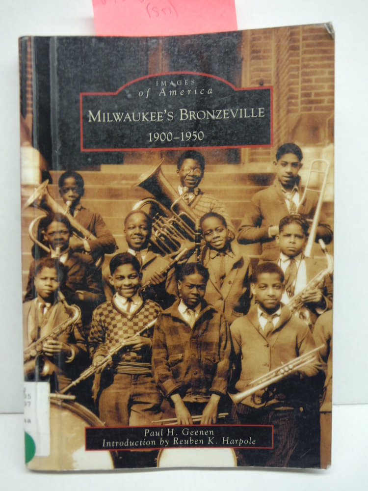 Image 0 of Milwaukee's Bronzeville:  1900-1950   (WI)  (Images of America)