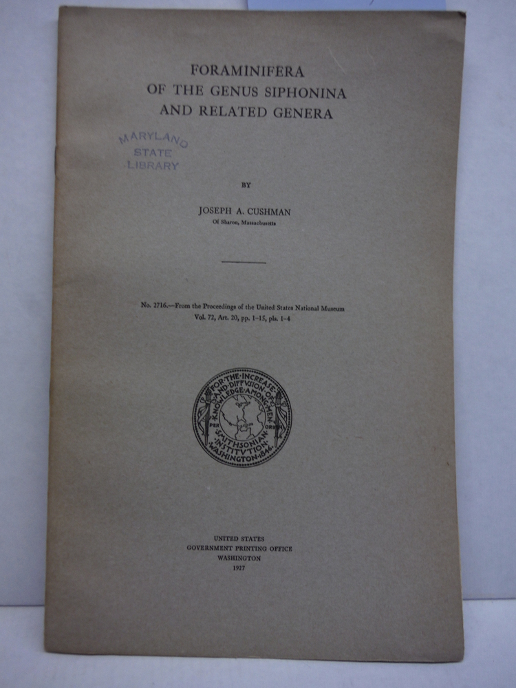 Foraminifera of the Genus Siphonina and Related Genera Proceedings of the United