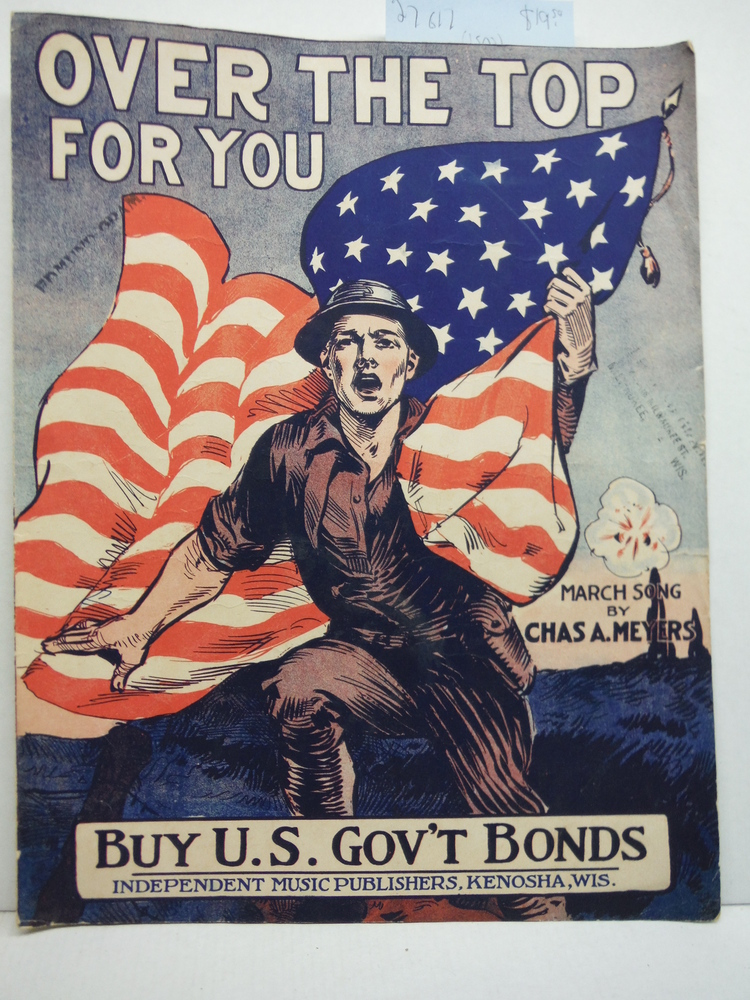 Over the Top For You WW I era Sheet Music (1918)