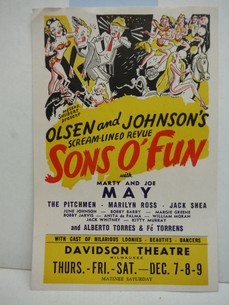 Olsen and Johnson Scream-Lined Review Sons O Fun Insert (1944)
